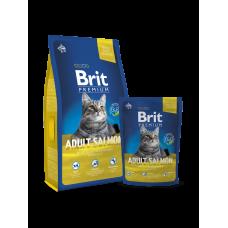 Brit Premium Cat Adult Salmon 8 кг.
