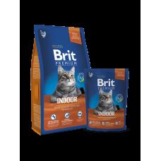 Brit Premium Cat Indoor 8 кг.