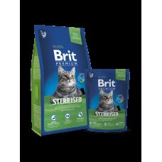 Brit Premium Cat Sterilised 8 кг.